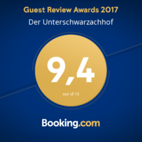 Booking.com Guest Review Awards 9,4 von 10, Unterschwarzachhof in Saalbach Hinterglemm